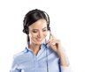 Call center woman beautiful young ready for support and contact Royalty Free Stock Images