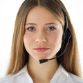 Call center woman operator Stock Photography