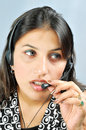 Call centre executive Royalty Free Stock Photos