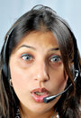 Call centre executive face shot Royalty Free Stock Photo