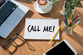CALL ME Contact Us Customer Service Support Question please call Royalty Free Stock Photo