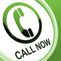 Call now button shows talk or chat showing Stock Photography