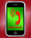 Call now on phone shows talk or chat showing Royalty Free Stock Images