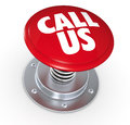 Call us one push button with the text d render Stock Photo