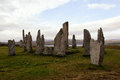 The Callanish standing stones Royalty Free Stock Photo