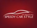 Calligraphic car logo Royalty Free Stock Photo