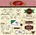Calligraphic  decorative retro elements for cafe and menu design Royalty Free Stock Photography