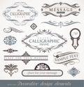 Kaligrafické dizajn prvky strana výzdoba