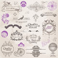 Calligraphic Design Elements and Page Decoration Royalty Free Stock Images