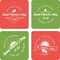 Calligraphic design elements st patrick s day a set of several pieces Royalty Free Stock Image