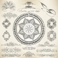 Calligraphic design elements vector set of and page decoration Stock Images