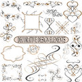 Calligraphic elements vintage ornament set. Vector Royalty Free Stock Images