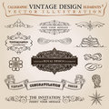 Calligraphic elements vintage ribbon Vector Royalty Free Stock Photo