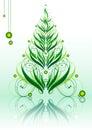 Calligraphic green xmastree Royalty Free Stock Photo