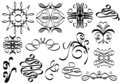 Calligraphic ornaments Stock Images