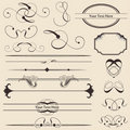 Calligraphic Page Decorations Royalty Free Stock Photo