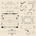 Calligraphic Page Decorations Royalty Free Stock Images