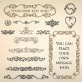 Calligraphic retro design elements Stock Image