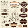 Calligraphic retro design elements and page decorations vector set of for vector Royalty Free Stock Photos