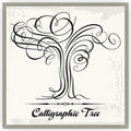 Calligraphic tree Arkivfoto