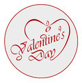 Calligraphic valentine s day headline with heart Stock Photo