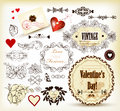 Calligraphic vintage design elements for valentine's design Royalty Free Stock Photography