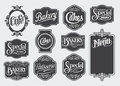 Calligraphic vintage signs