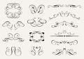 Calligraphy set of calligraphic symbols vector illustration Royalty Free Stock Image