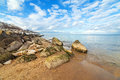 Calm Baltic sea scenery at winter. Stock Images