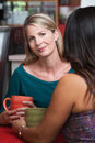 Calm Blond Woman with Friend Stock Photography