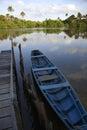 Calm Brazilian River Boat Dock Rural Brazil Royalty Free Stock Photo