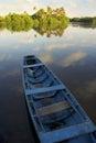 Calm Brazilian River Boat Rural Brazil Royalty Free Stock Photo