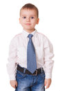 Calm clever preschool kid Royalty Free Stock Photo