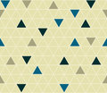 Calm geometric background with rounded triangles seamless vector pattern colored in random order wallpapers covers or Stock Images