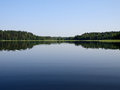 Calm lake on the in summer morning Stock Image