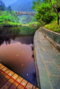 Calm lake in Wudang, China Stock Image