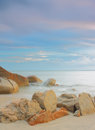 Calm ocean in the morning long exposure shot soft focus motion blur due to Royalty Free Stock Image