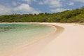 Calm sandy tropical beach at half moon bay antigua Stock Photography