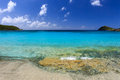 Calm and sunny day at klein bay st john usvi with blue sky and crystal clear water Royalty Free Stock Photography