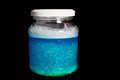 Calming jar a bright blue for children Royalty Free Stock Photos