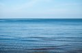 Calmly blue sea and sky background Stock Photos