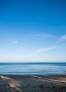 Calmly sea and clear blue sky thailand Royalty Free Stock Image