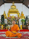 The calmness  of a monk , Royalty Free Stock Photo