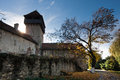 Calnic medieval fortress in Transylvania Romania Royalty Free Stock Photography
