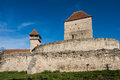 Calnic medieval fortress in Transylvania Romania Royalty Free Stock Images