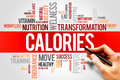 Calories word cloud fitness sport health concept Stock Photo