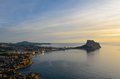 Calpe bay sunrise Stock Image