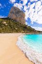 Calpe cala el raco beach in mediterranean alicante of spain Royalty Free Stock Photography