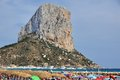 Calpe and the Penon de Ifach Royalty Free Stock Image
