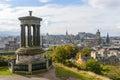 Calton Hill of Edinburgh in Autumn Royalty Free Stock Photo